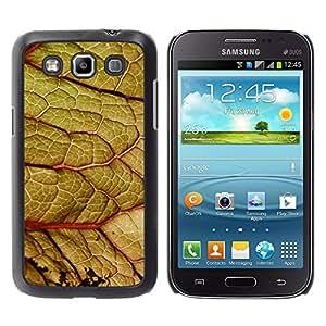 Qstar Arte & diseño plástico duro Fundas Cover Cubre Hard Case Cover para Samsung Galaxy Win / I8550 / I8552 / Grand Quattro ( Leaf Close Zoom Green Nature Forest Tree)
