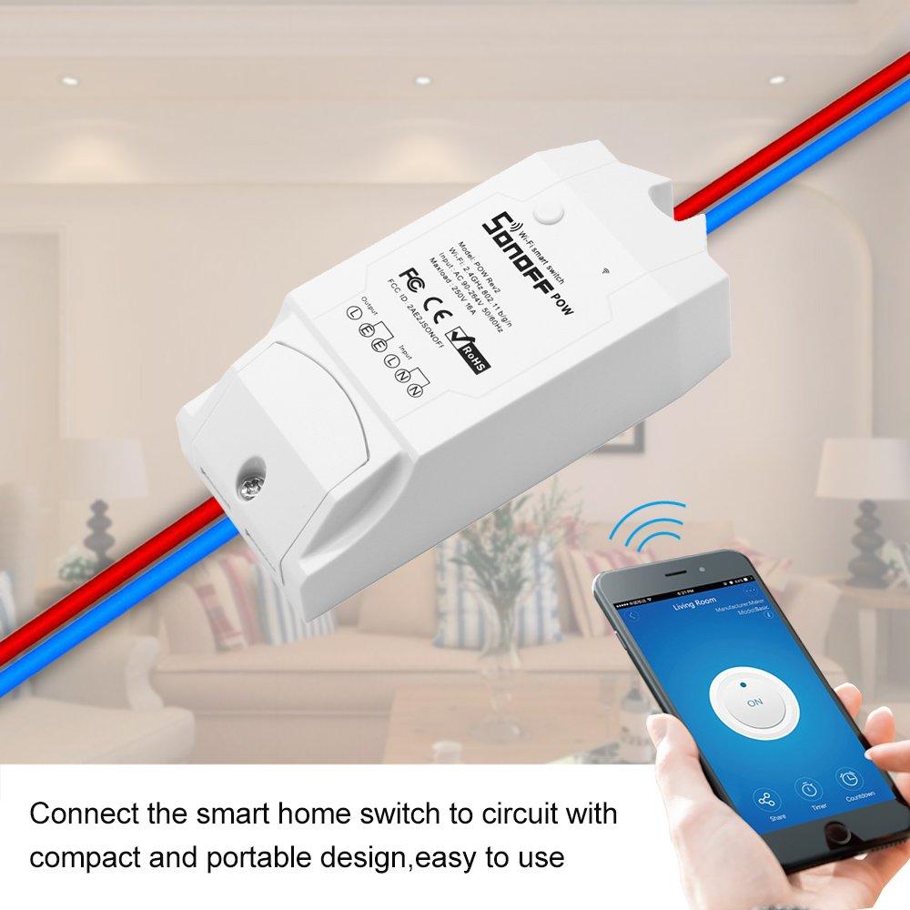 Electrical DIY & Tools OWSOO Sonoff Pow R2 ITEAD Smart Wifi