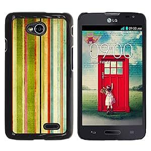 KOKO CASE / LG Optimus L70 / LS620 / D325 / MS323 / rayas pintura del arte del arco iris de la acuarela / Delgado Negro Plástico caso cubierta Shell Armor Funda Case Cover
