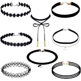 Jooest Choker Necklace Set with Stretch Velvet Classic Gothic Tattoo