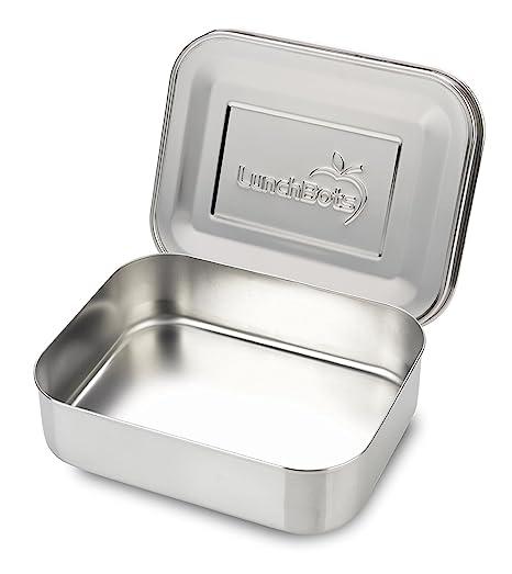 LunchBots Uno: Contenedor de alimentos de acero inoxidable - Diseño abierto perfecto para sándwiches, envolturas, ensaladas o una pequeña comida - ...