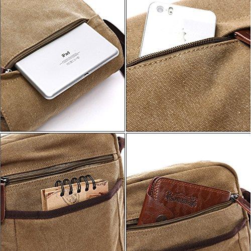 Travel ENKNIGHT Nylon Crossbody Purse Bag handbags Women for Khaki Shoulder 7qSAYwgrqx