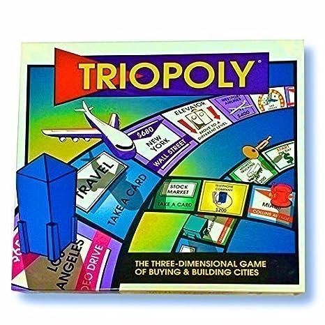 amazon com triopoly super monopoly board game 3 dimensions of
