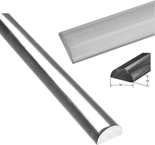 Tope de ducha de 1,27 cm de ancho x 0,6 cm de alto x 88 cm de largo, acrílico, transparente, para duchas sin plato: Amazon.es: Bricolaje y herramientas