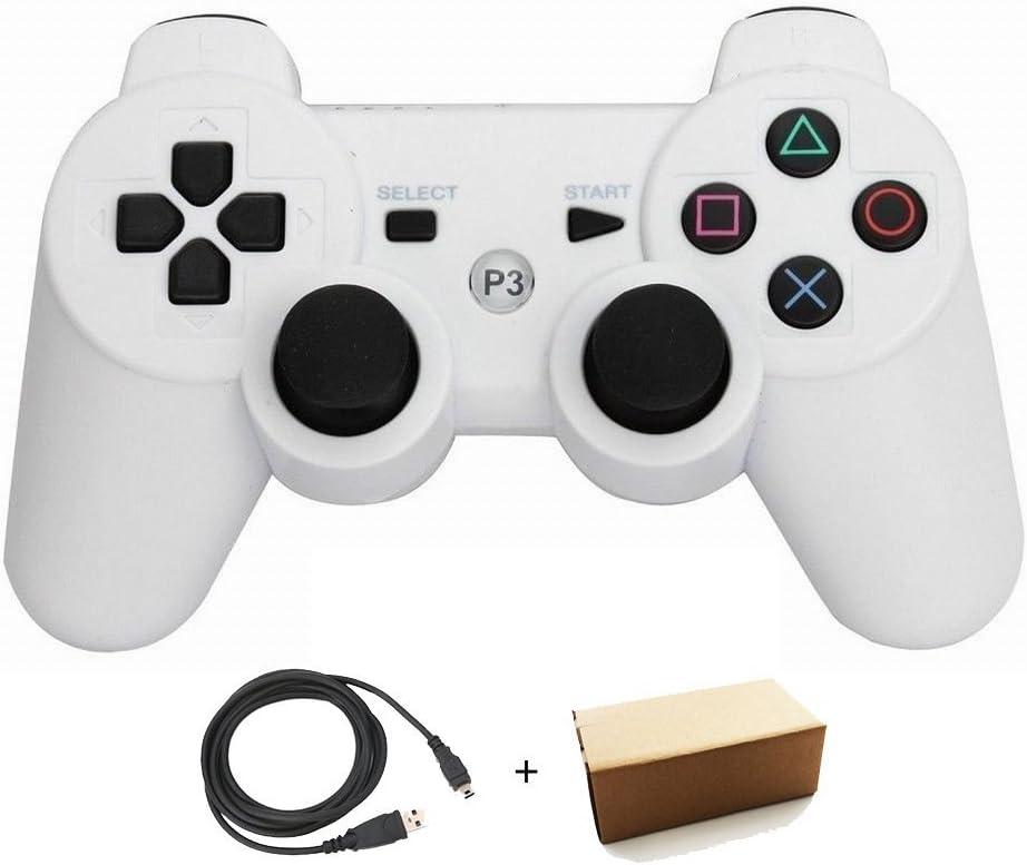 /Fourni avec Cordon de Charge USB Bowink contr/ôleur sans Fil Bluetooth pour PS3/Double Choc/