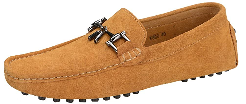 Amazon.com | Abby 6888 Mens Slip-on Casual Extraordinary Loafers Moccasins Driver Leather Shoes | Loafers & Slip-Ons