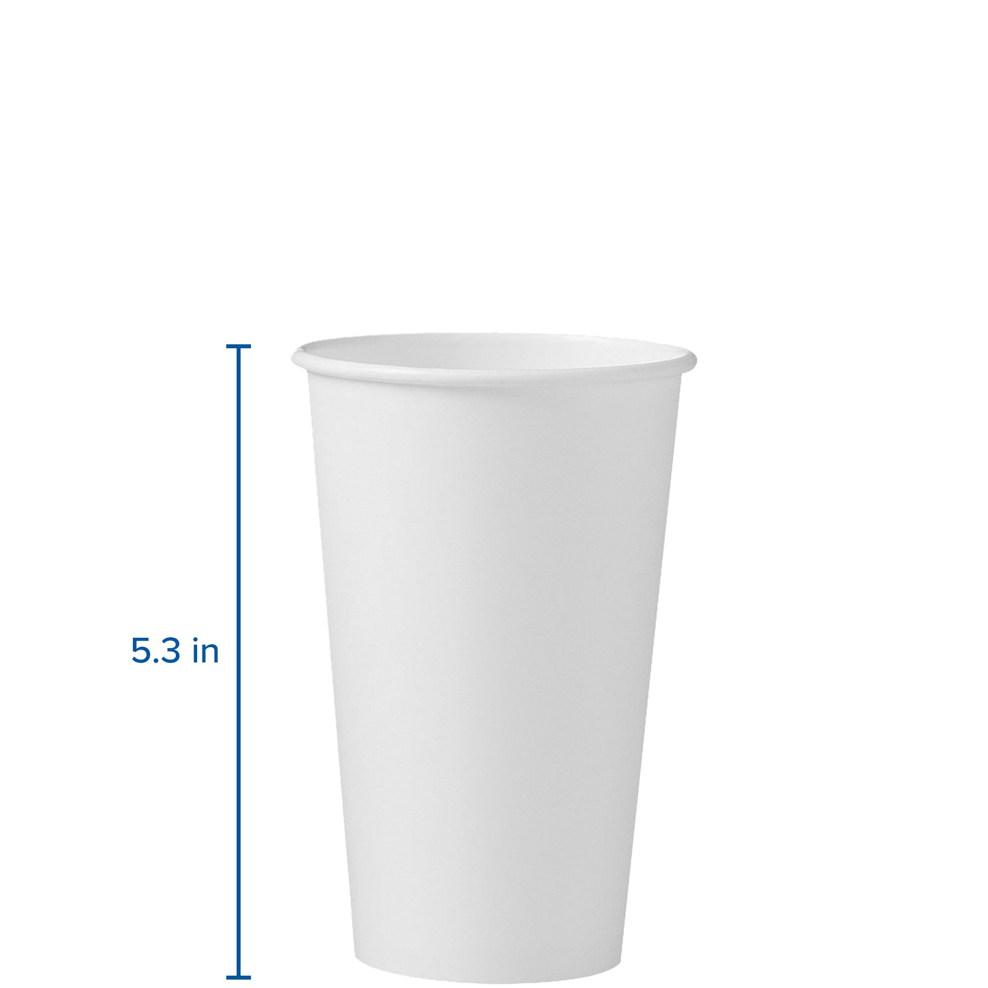 Solo 316W-2050 16 oz White SSP Paper Hot Cup (Case of 1000) by Solo Foodservice (Image #3)