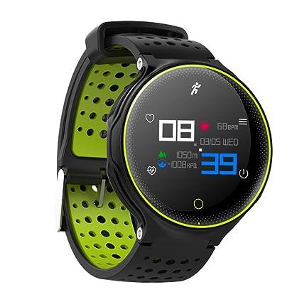 Kivors Pulsera deportiva de salud, IP68, resistente al agua, reloj inteligente con monitor