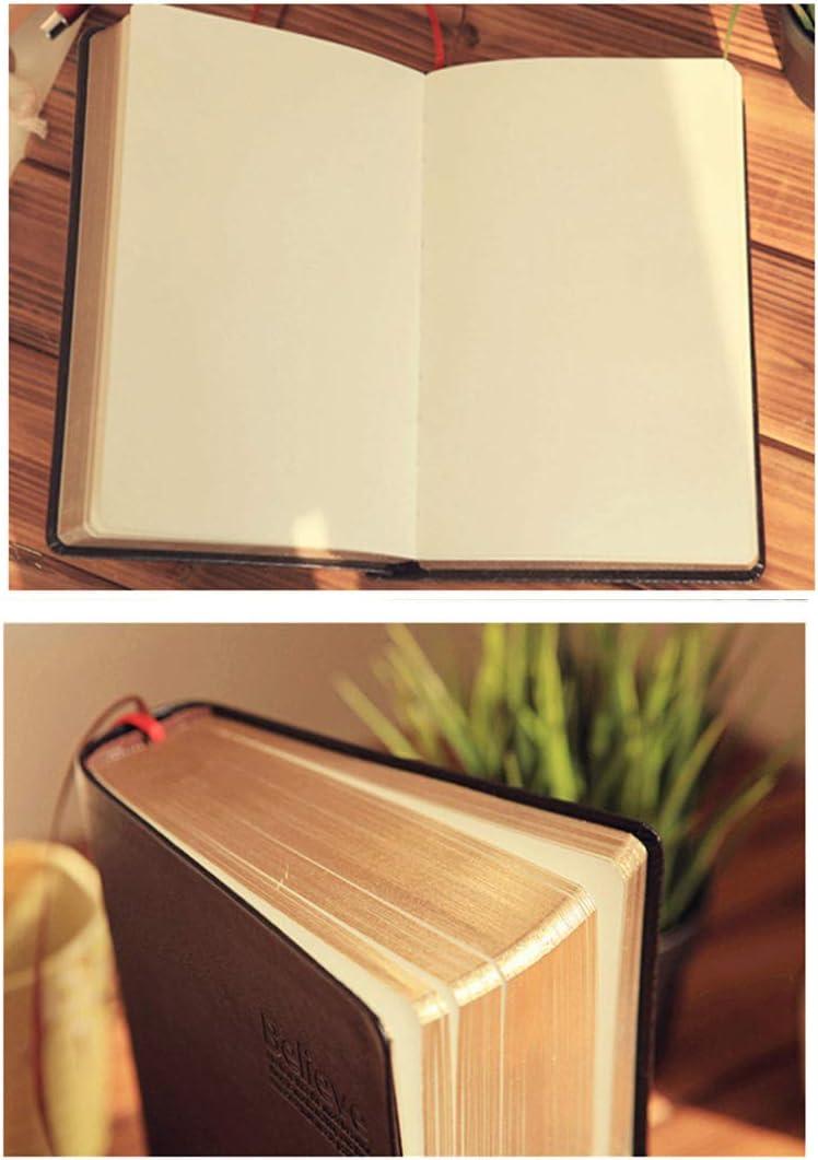 formato A6 Gaocheng carta spessa a righe Blank-01 diario diario in pelle formato A6 300 pagine bianche quaderno per schizzi quaderno per schizzi