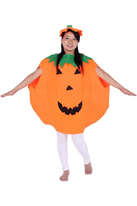 Inflatable Costume  Pumpkin with Hat Halloween Cosplay Fancy Dress