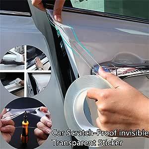 Luixxuer - Protector Universal para umbral de Puerta (Superficie Transparente y protección contra arañazos), Transparente, 10 * 200cm