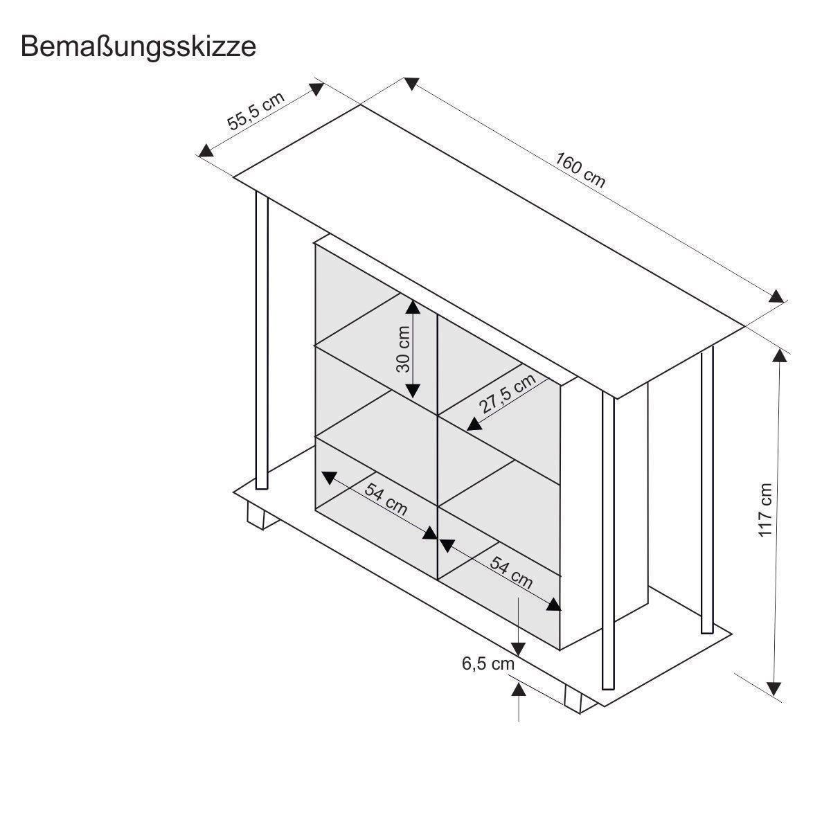 Tresenhöhe bartresen auf rollen holz glas weiß ca 120 cm hoch amazon de