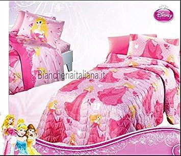 Copriletto Trapuntato Caleffi Disney.Caleffi Disney Princess Aurora Copriletto Trapuntato Singolo Una
