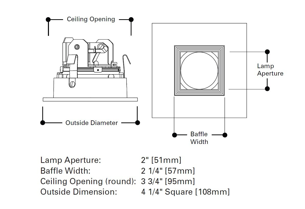 HALO Recessed 3012TBZBB 3-Inch 15-Degree Trim Lensed Square Shower on