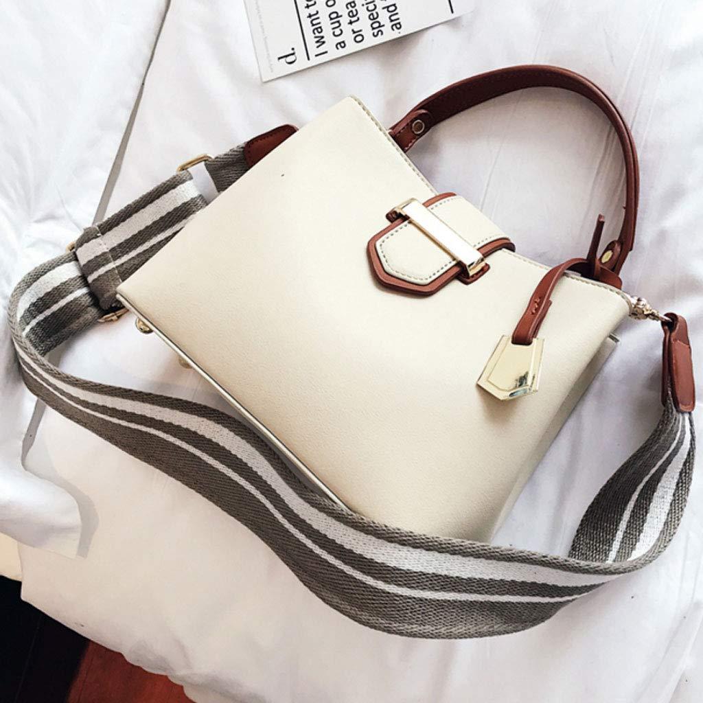 Color : Beige, Size : 22x9x17cm ZXW-Handbag Fashion Wild Korean Shoulder Bag Messenger Bag 22x9x17cm