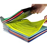 Hemore 10PCS Organizador de Armarios,Organizador para Ahorrar Espacio Camiseta Plegable de Armario cajón Maleta