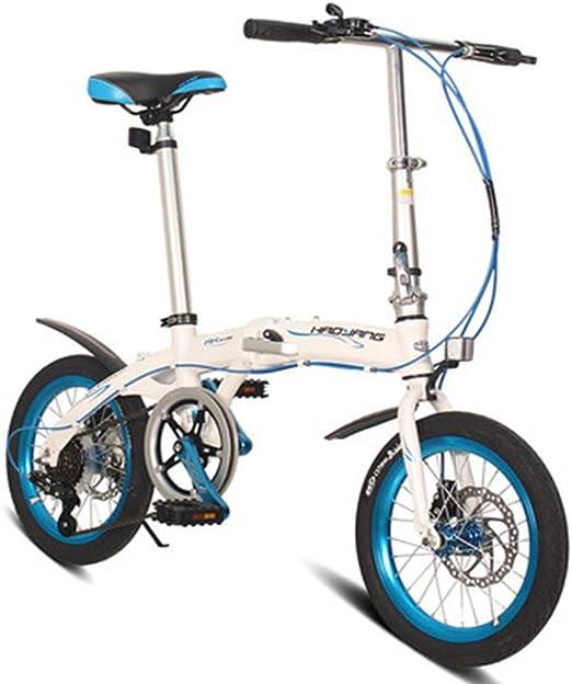 RPOLY Plegable de la Ciudad para Bicicleta, 6 velocidades Bici ...
