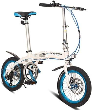 RPOLY Plegable de la Ciudad para Bicicleta, 6 velocidades Bici Plegable Unisex Bicicleta Plegable con el Marco Plegable de Aluminio,: Amazon.es: Hogar