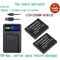 KEENKI 2XBattery+USB LCD1 Charger for Panasonic DMW-BCM13E DMC-ZS30GK LZ40 TZ40 ZS40 TZ61 AU-Ship
