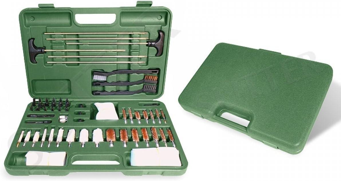 SUTTER Amplio Set de Limpieza Premium para Armas en Robusto maletín Verde/Accesorios para el Cuidado y la Limpieza de Armas