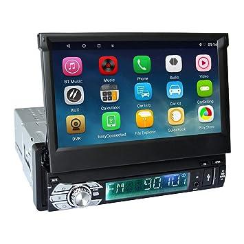 Podofo Single DIN - Radio estéreo para Coche Android 6.0 RDS GPS ...