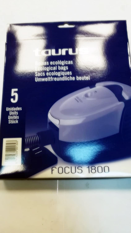 Taurus Bolsas Aspirador Modelo Focus 1800: Amazon.es: Hogar