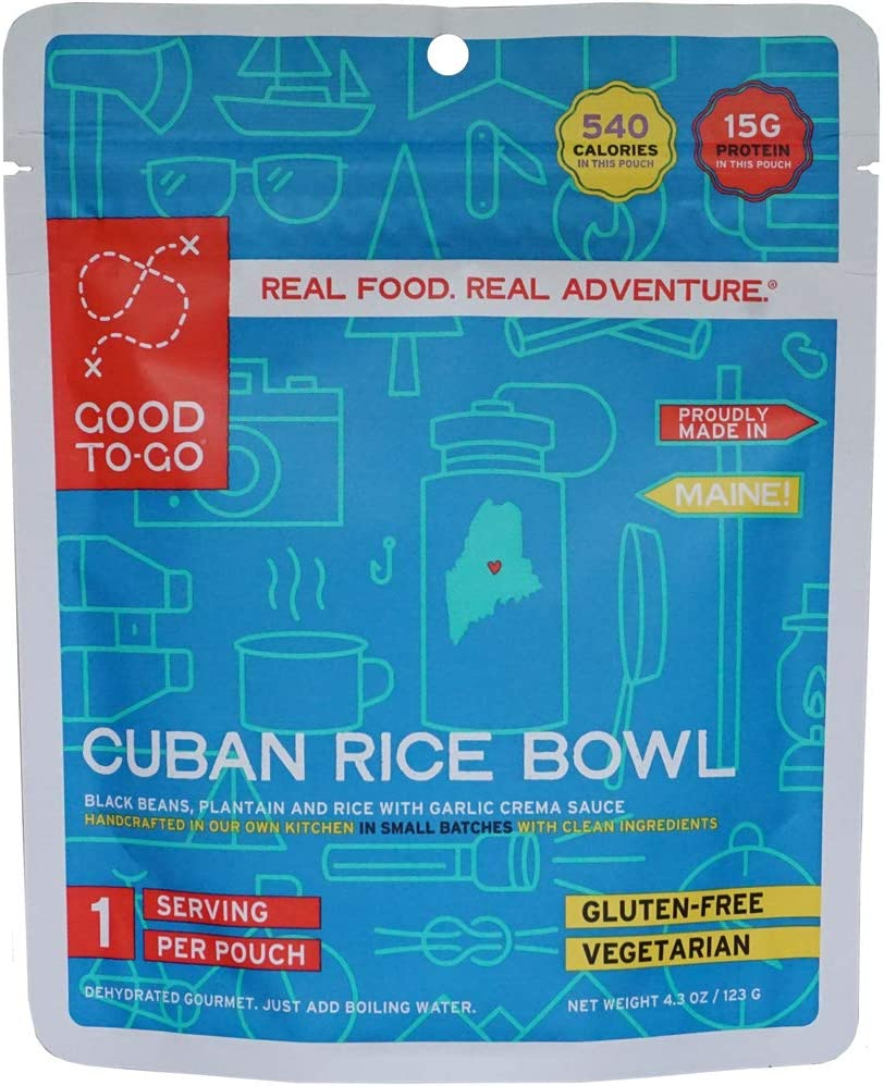 GOOD TO-GO Cuban Rice Bowl | Dehydrated Backpacking and Camping Food | Lightweight | Easy to Prepare