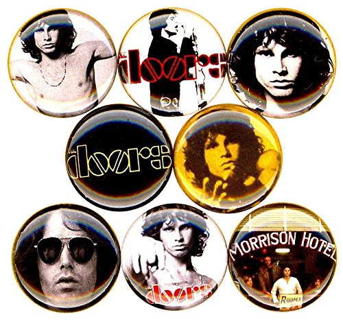 The Doors x 8 NEW 1 inch pins buttons badges jim morrison LA Woman hotel (Jim Morrison Halloween Costumes)
