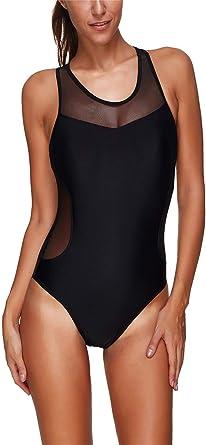 Mujer Bañador con la Transparencia Negro Traje de Baño Verano Sexy Push Up Ropa De Playa Bodysuits Baño De Natación Mujer Trajes de una Pieza: Amazon.es: Ropa y accesorios