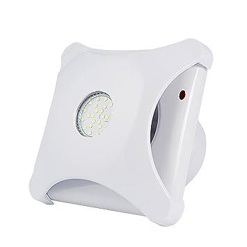 Honu0026Guan 100mm Silencieux Ventilateurs Extracteur De Salle De Bain Avec  Lumière LED Conduit De 100mm