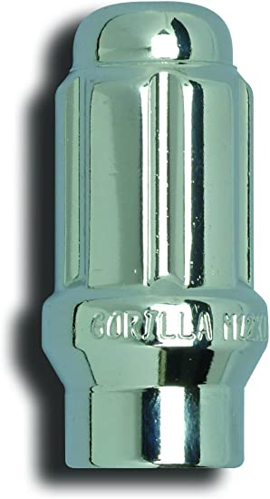Pack of 20 Gorilla Automotive 21133ET Extended Thread Small Diameter Lug Nut 12-Millimeter by 1.5 Thread Size