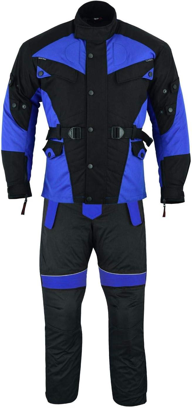 German Wear 2-teiler Motorradkombi Cordura Textilien Motorradjacke Motorradhose Rot 48//S