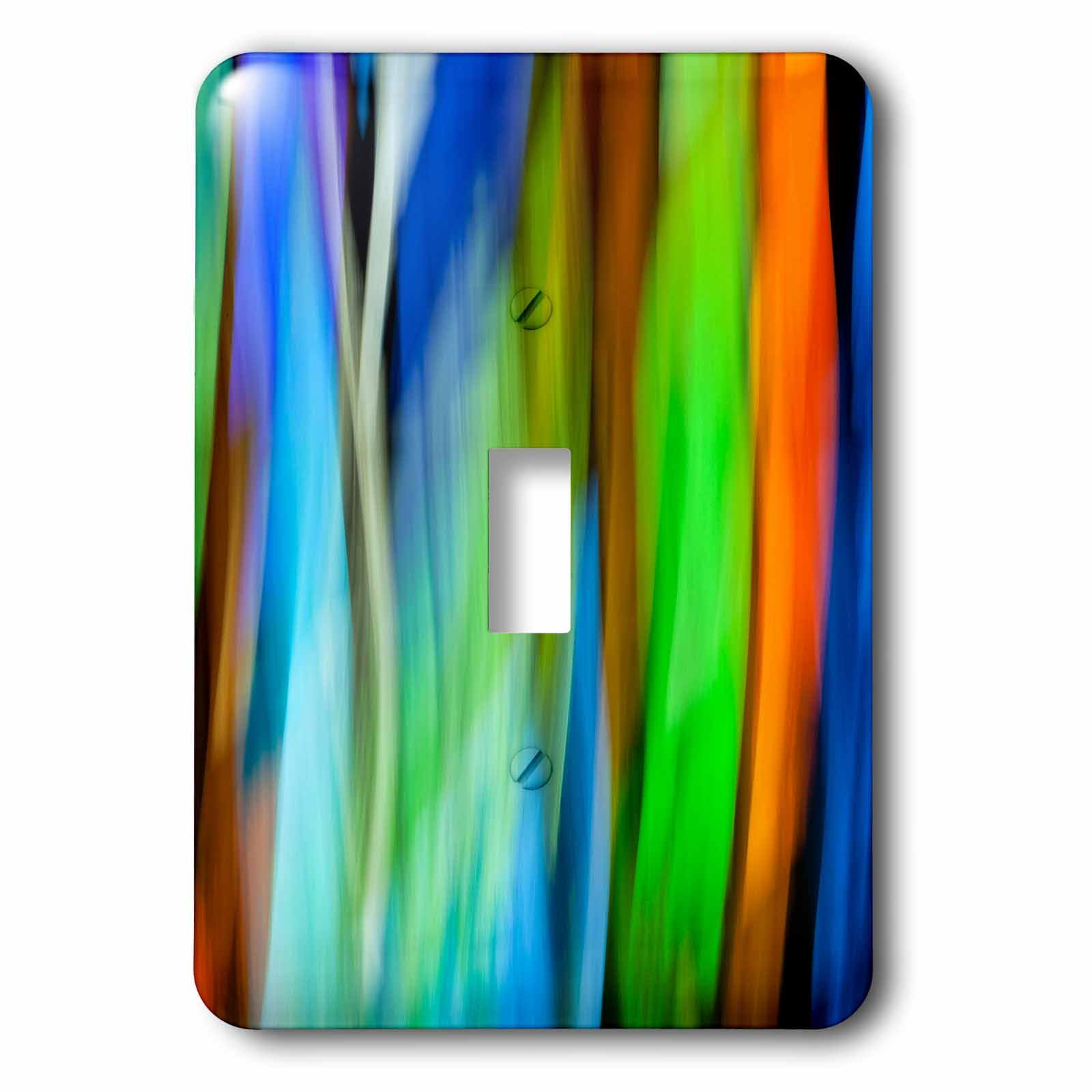 3dRose Danita Delimont - Abstracts - A motion blur of a stain glass window. - Light Switch Covers - single toggle switch (lsp_276400_1)