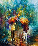 Friends With a Dog is a Limited Edition print from the Edition of 400. The artwork is a hand-embellished, signed and numbered Giclee on Unstretched Canvas by Leonid Afremov. Embellishment on each of these pieces will be slightly different, but the im...
