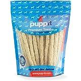 """Puppit Carnaza Natural Palitos, Sticks 5"""" 40 Piezas para Todos Tipos y Razas de Perros, Razas pequeñas"""