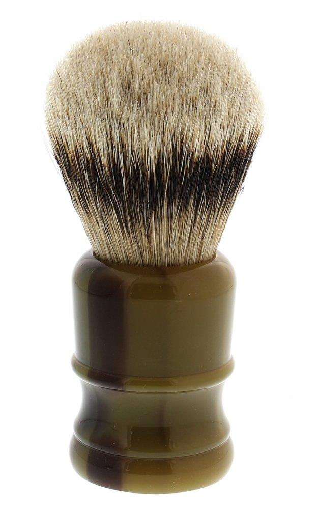 West Coast Shaving 100% Silvertip Quality Shaving Brush with Dense Knot. (Tortoise-Torch)