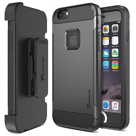 the latest 6cb81 c1044 Trianium iPhone 6 / 6s Case [Duranium Series] Holster Case for Apple iPhone  6 6s w/Built-in Screen Protector Heavy Duty + Ultra Protection Phone Cover  ...