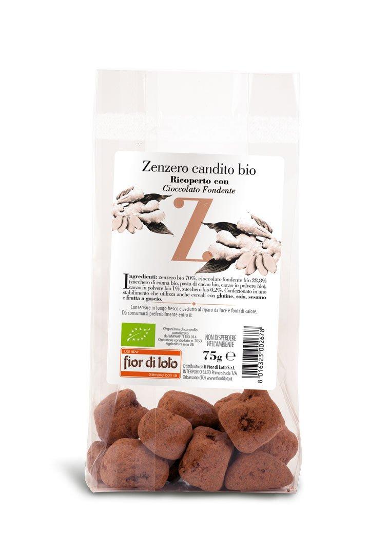 Ajengibre confitado cubierto con chocolate BIO 75 g: Amazon.es: Salud y cuidado personal