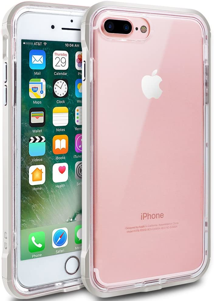 "iPhone 7 Plus Case, iPhone 8 Plus Case, LOEV [Raised Lip Design] [Crystal Clear] Anti-Scratch & Shock-Absorbing Protective Case TPU + PC Bumper Cover for Apple iPhone 7/8 Plus 5.5"" - Pearl White"