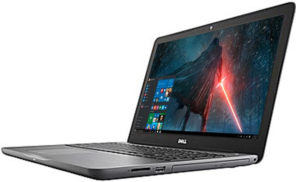 "2017 Business Flagship Dell Inspiron 15.6"" LED-Backlit Display Laptop PC Intel i7-7500U Processor 8GB DDR4 RAM 256GB SSD DVD-RW Backlit-keyboard HDMI 802.11ac Webcam Bluetooth Windows 10-Gray"