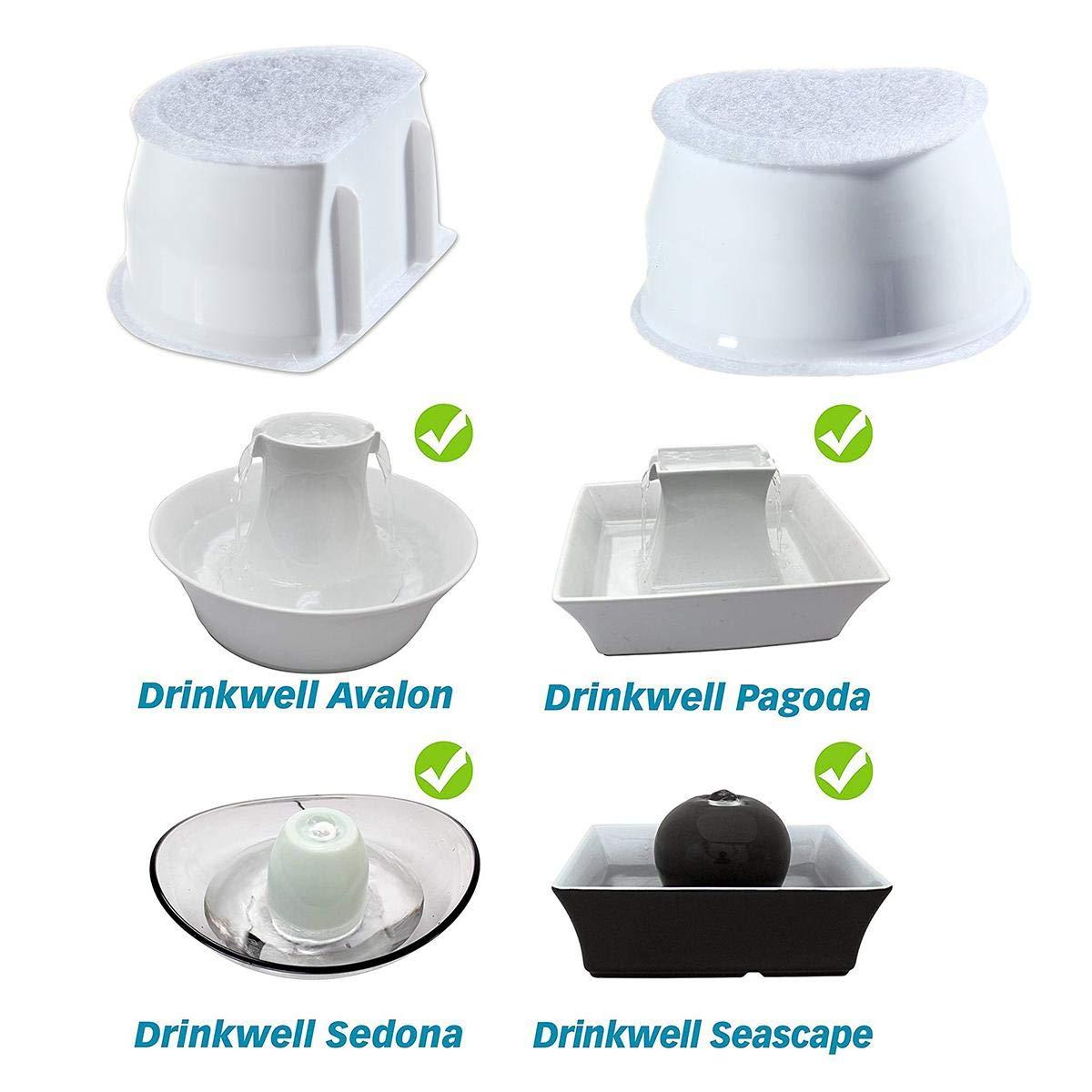 Filtros de Dispensador de Agua de Carb/ón Activado Org/ánica los Mejores Filtros de Fuente AOLVO 8 Paquetes de Filtros de Reemplazo Drinkwell para Avalon Pagoda Pet Fountains
