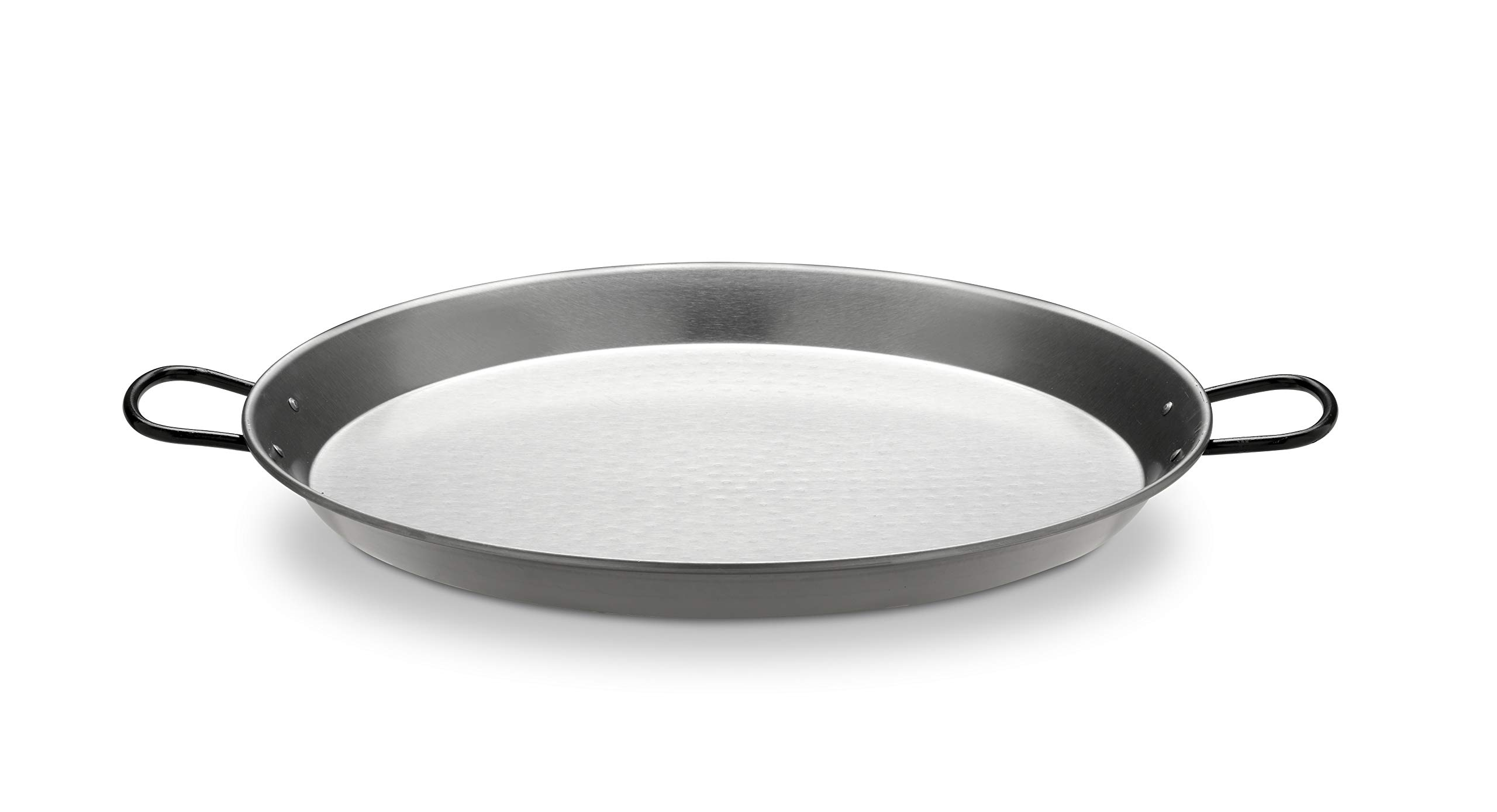 Polished Steel Valencian paella pan 26Inch / 65cm / 25 Servings by Vaello La Valenciana