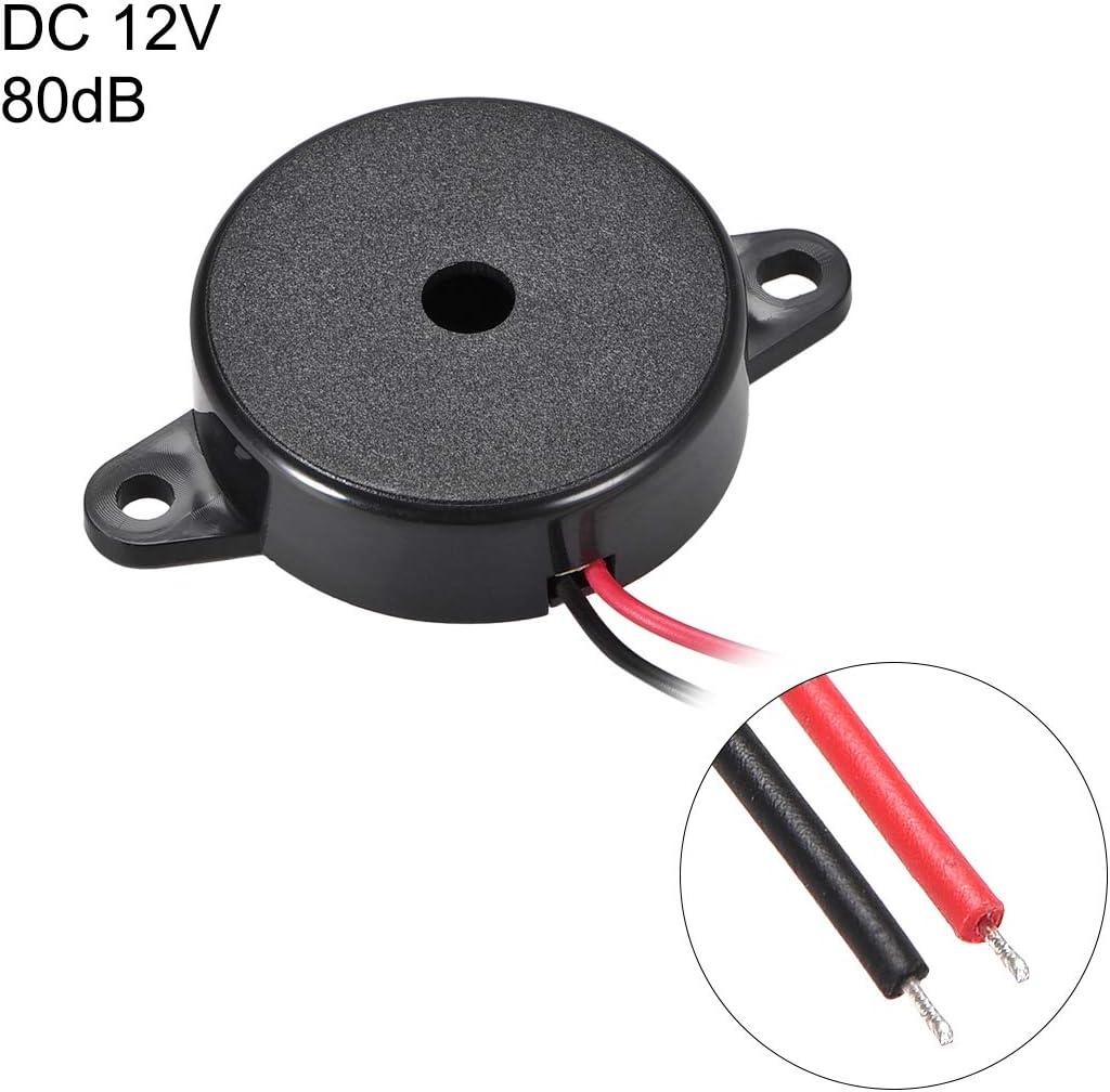 sourcing map 2 Pcs DC 12V Active Electronic Buzzer Alarm Sounder Continuous 80dB Beep Speaker