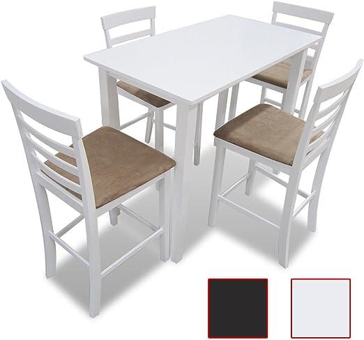 LD - Juego de mesa y sillas de comedor (madera), color marrón: Amazon.es: Hogar