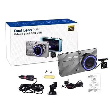 4 1080p HD Coche salpicadero DVR cámara Doble Objetivo Gran Angular de 170 ° Detección