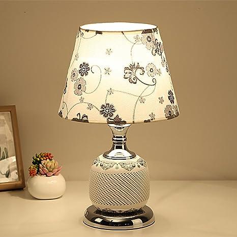 LZHI Lámpara de Mesa de cerámica Hueco de cerámica de ...