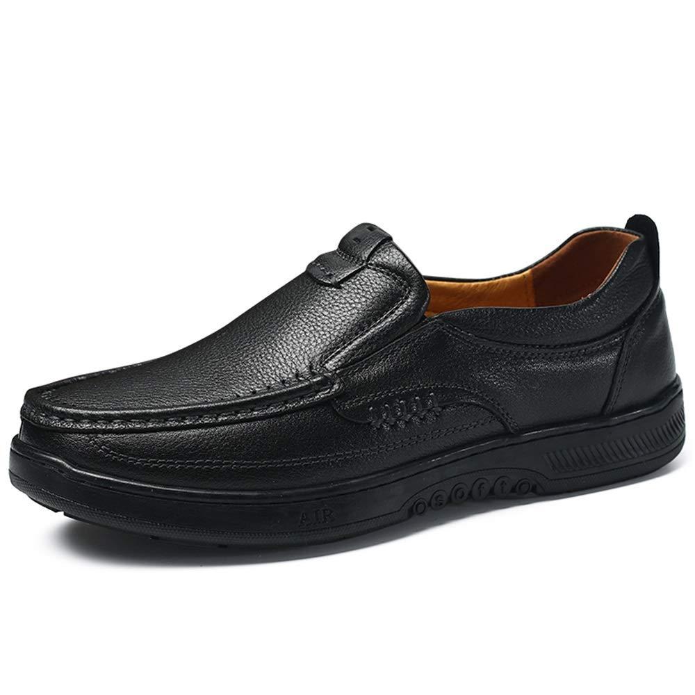 svart Easy Go Shopping Shopping Shopping Leisure Driver Loafers for män Round Toe Oxfords Casual Flat Penny skor läder Upper Slip on Stitch gående Boat skor Non -Slip Cricket skor (Färg  svart, Storlek  8.5 UK)  letar efter försäljningsagent