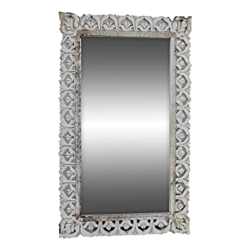 Amazon.com: Indian Heritage - Wooden Mirror 18x30 Mango wood Carved ...