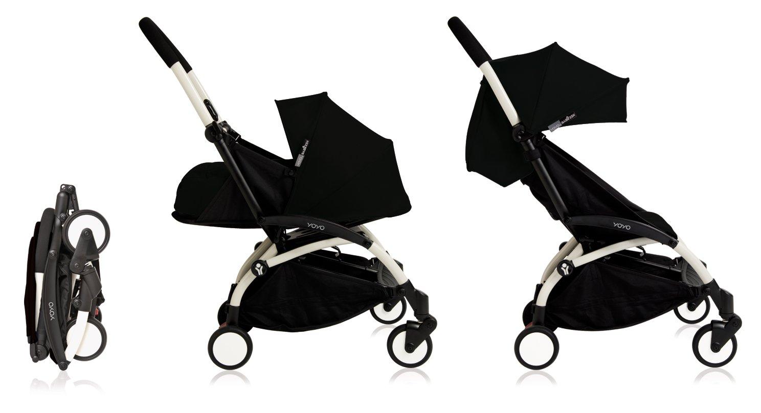 Babyzen YoYo Stroller Bundle Yoyo Stroller, Canopy Newborn Pack Black