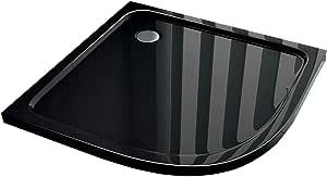 90 x 90 cuarto circular (Plato de ducha Ducha extraplano, 50 mm Cuadrante Negro: Amazon.es: Bricolaje y herramientas